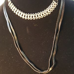NWOT Lucky choker and necklace